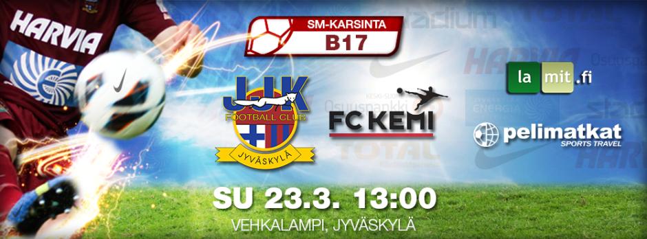 JJK B-nuoret SM-karsintasarja JJK vs FC Kemi su 23.3. Vehkalammella