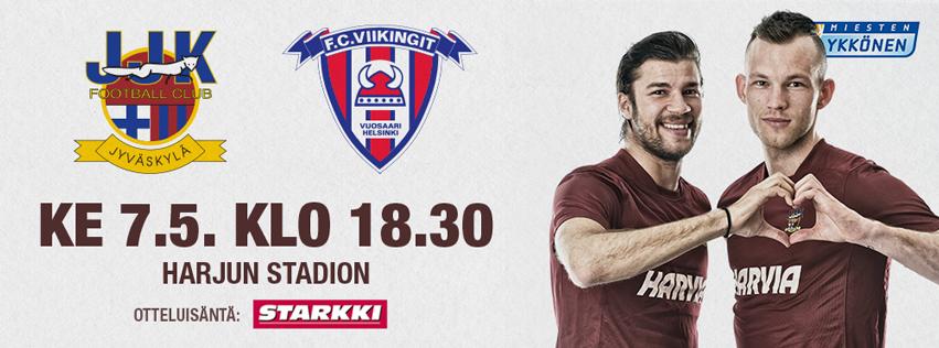 JJK-FC Viikingit ke 7.5. klo 18:30 Harjun stadionilla