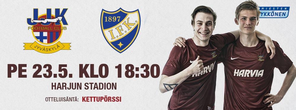 JJK - HIFK perjantaina 23.5. klo 18:30 Harjun stadionilla