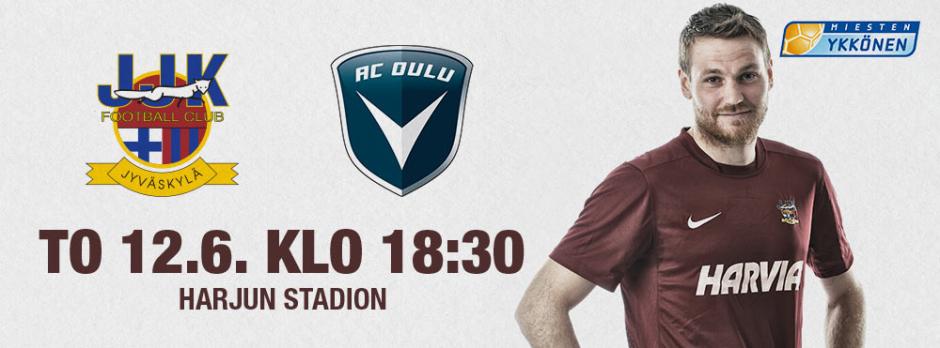 JJK - AC Oulu torstaina 12.6. klo 18:30 Harjulla