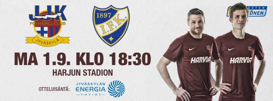 JJK-HIFK maanantaina 1.9. klo 18:30 Harjun stadionilla