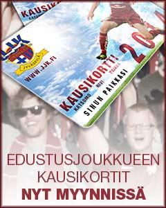 JJK Edustusjoukkueen kausikortit nyt myynnissä