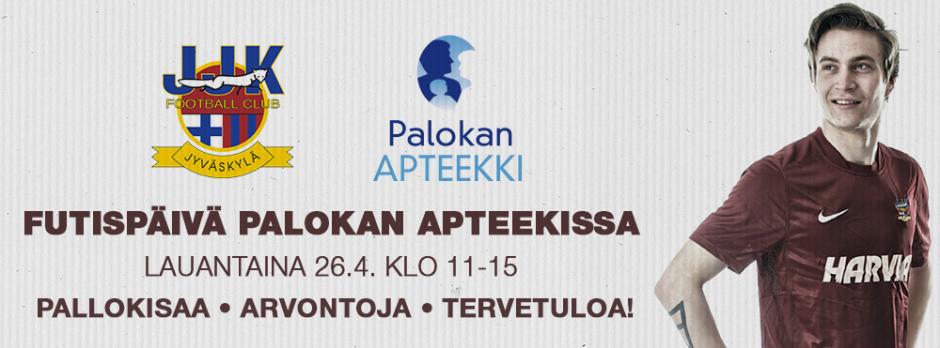 JJK-futispäivä Palokan Apteekissa lauantaina 26.4. klo 11-15