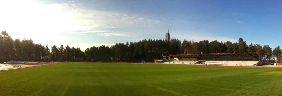 JJK:n kotikenttä Harjun stadion