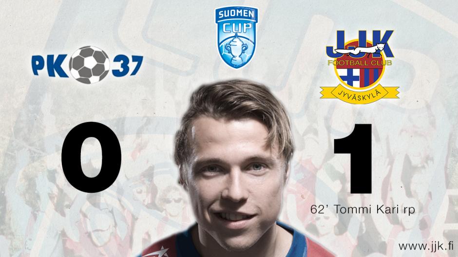 JJK jatkaa Suomen Cupissa kaadettua PK-37:n