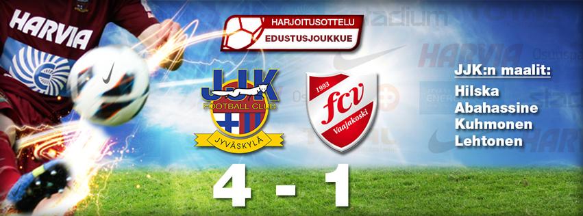 JJK voitti FC Vaajakosken 4-1