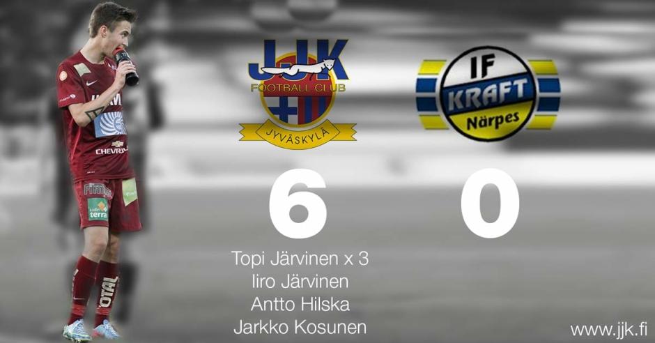 JJK kaatoi Kraftin 6-0