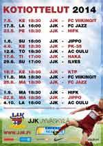 JJK Ykkönen otteluohjelma 2014