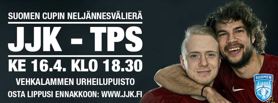 JJK-TPS Suomen Cup ke 16.4. klo 18:30 Vehkalammen urheilupuisto