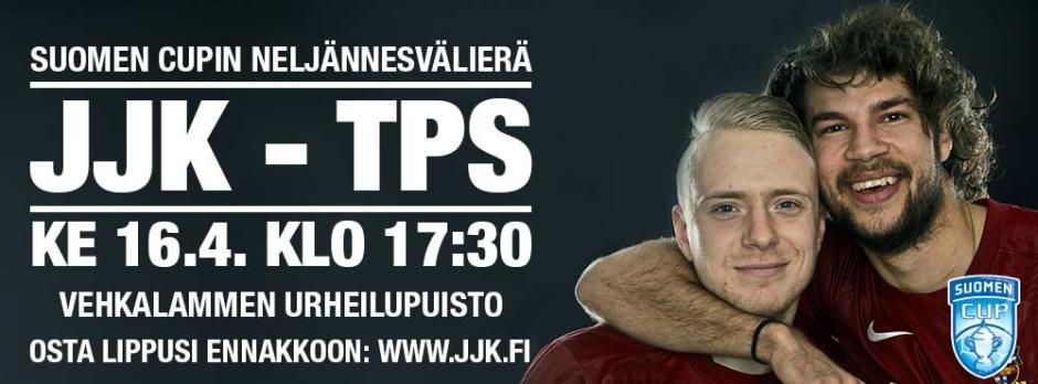 JJK-TPS Suomen Cup ke 16.4. klo 17:30 Vehkalammen urheilupuisto
